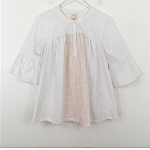 Anthropologie O by Organic Bell Sleeved Top